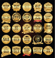 super sale golden retro badges and labels vector image vector image