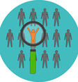 Unique person leadership Flat design Icon in vector image
