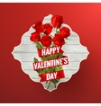 Valentines Day lacy frame EPS 10 vector image vector image
