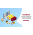 warehouse transportation isometric vector image