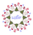winter decoration cute snowman in new year party vector image vector image