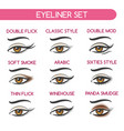 woman eyes makeup set vector image vector image