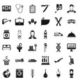 working icons set simple style vector image vector image