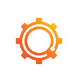 abstract gear business logo vector image