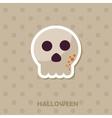 Skull icon Halloween sticker vector image