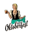 Young sexy Oktoberfest woman wearing a traditional vector image
