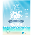 Summer Journey poster with tropical background vector image