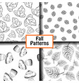 4 black and white patterns vector image vector image