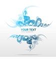 Abstraction blue background for text vector image