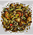 africa hand drawn cartoon doodles vector image vector image
