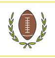 american football championship color icon vector image