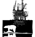 Arctic Drilling vector image vector image