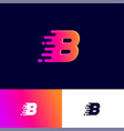 b letter winds movement dynamic logo velocity deli vector image vector image