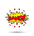 bang comic sound effects sound bubble speech with vector image vector image