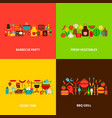 bbq grill concepts set vector image vector image