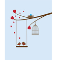 bird swing vector image vector image