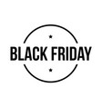 black friday sign stamp vector image vector image