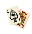 Black Jack playing cards combination vector image