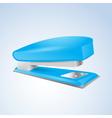 Blue stapler vector image