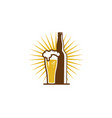 bottle beer logo icon design vector image