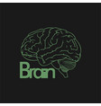 brain with outline concept design vector image vector image