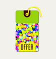 bright tags with rainbow glitter vector image vector image