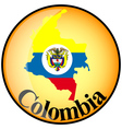 button Colombia vector image vector image