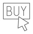 buy now thin line icon shopping and commerce buy vector image vector image