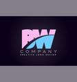 bw alphabet letter join joined letter logo design vector image vector image