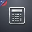 Calculator icon symbol 3D style Trendy modern vector image
