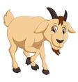 Cartoon goat character vector image