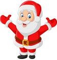 cartoon happy santa claus waving vector image vector image