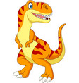 cartoon tyrannosaurus isolated on white background vector image