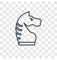 chessplayer concept linear icon isolated on vector image