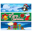 christmas banners collection 2 vector image vector image
