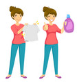 clean laundry vector image