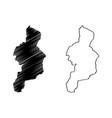 cordillera administrative region map vector image vector image