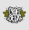 craft beer hand drawn design with beer hops vector image vector image
