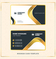 Creative Golden Business Visiting Card Design vector image