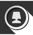 dark gray icon with bedside table lamp vector image