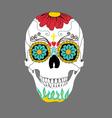 day dead skull vector image