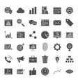 Development Solid Web Icons vector image vector image