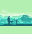 family camping and having a barbecue vector image vector image