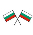 flag of bulgaria stylization of national banner vector image vector image