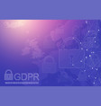 gdpr - general data protection regulation dotted vector image