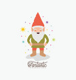 gnome fantastic character with costume and vector image vector image