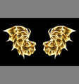 gold polygonal dragon wings vector image vector image