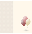 Greeting card with balloon vector image