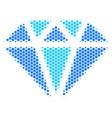 hexagon halftone diamond icon vector image