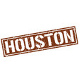 houston brown square stamp vector image vector image
